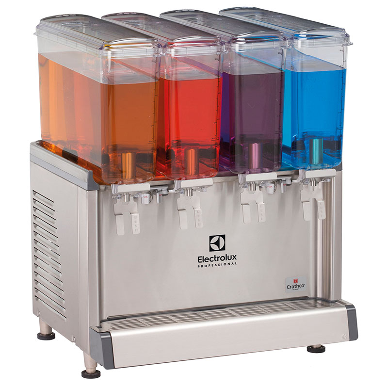 ECS Chilled beverage dispenser with 4x9L bowls and agitator