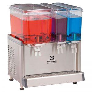 ECS Chilled beverage dispenser with 2x9L + 1x18L bowls and agitator