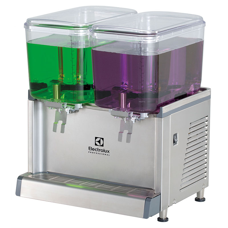 ECS Chilled beverage dispenser with 2x18L bowls and agitator