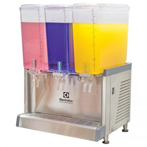 ECS Chilled beverage dispenser with 3x18L bowls and agitator