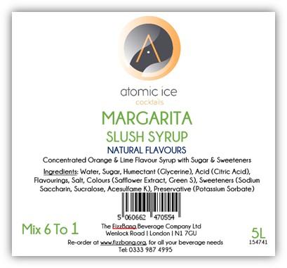 Bottle Label Atomic Ice Cocktail Margarita