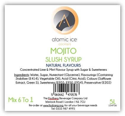 Bottle Label Atomic Ice Cocktail Mojito