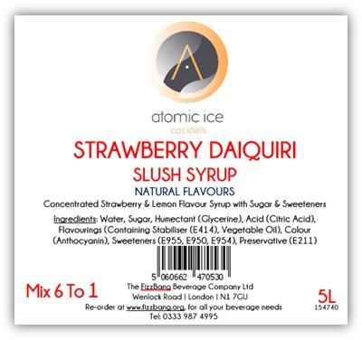 Bottle Label Atomic Ice Cocktail Strawberry Daiquiri