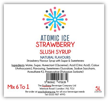 Bottle Label Atomic Ice Strawberry