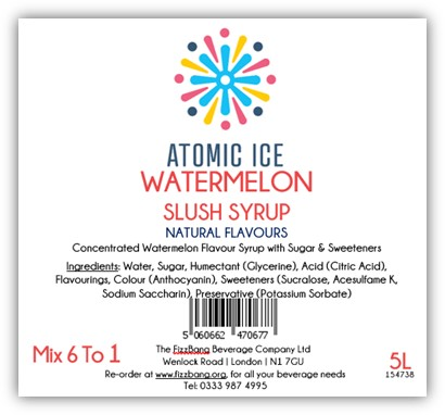 Bottle Label Atomic Ice WaterMelon