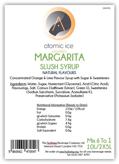 Box Label Atomic Ice Cocktail Margarita