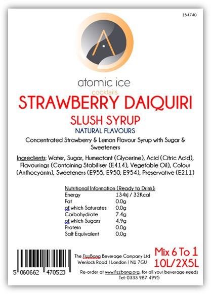 Box Label Atomic Ice Cocktail Strawberry Daiquiri