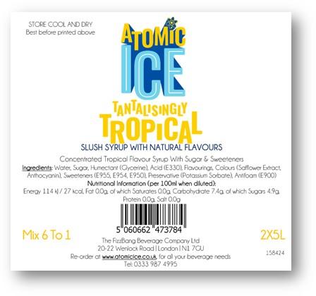 Box Label Atomic Ice Tropical